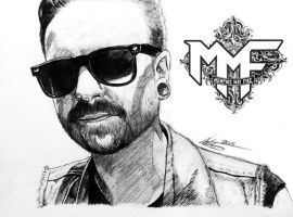 Matty Mullins - Sunglasses by I-Draw-Bands
