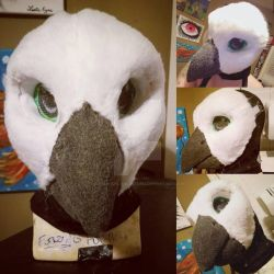 Bird Fullsuit Commission WIP: Furring The Face by RageandRoarCustoms