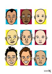 Faces (Color) by Corkhead