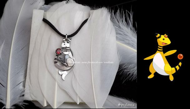 'Ampharos', handmade sterling silver pendant by seralune