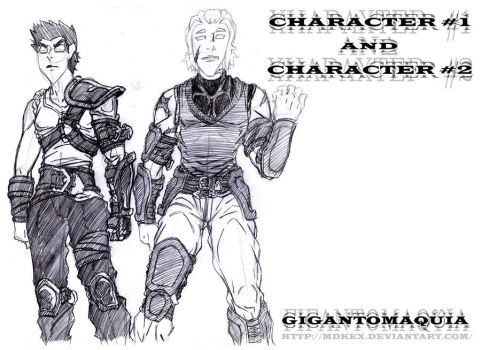 GIGANTOMAQUIA - CHAR 1 AND 2 by mdkex