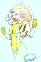 Rogue by Paolo Pantalena in color by GordonAlyx