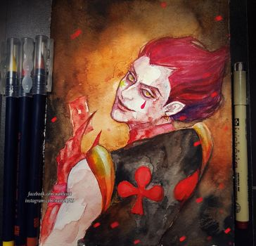 Inktober Day 14: Hisoka by NanFe