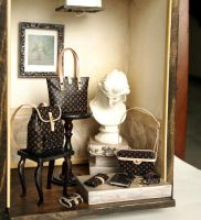 Artistic LV sets Designer Handbags Purse sets by dollhouseara
