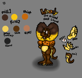 Woody the Frilled neck Lizard by Jaarvis