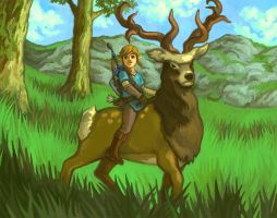Breath of the Wild Scene by pancakesandhalibut