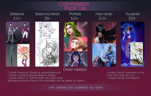 Commission price list 2017 - OPEN by fantazyme