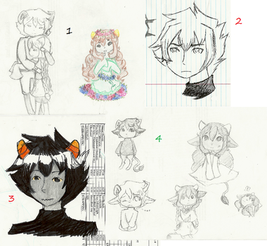 Sketch dump 3 w/ comments by TheCherryGoldfish