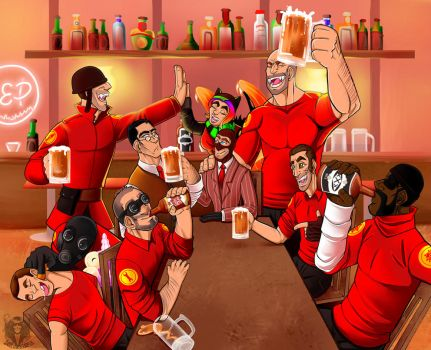 TF2 Day 9: Hanging out with friends by DeathRage22