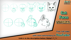 Cat Faces - Mink's Tutorials (YouTube) by Minks-Art