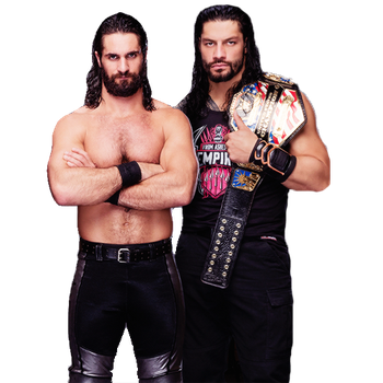 SETH ROLLINS AND ROMAN REIGNS PNG by WWE-WOMENS02