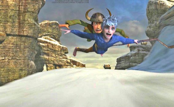 Jack Frost/Hiccup by angeelous-dc