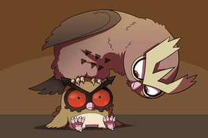 The Hoothoot Family by Zerochan923600