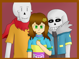 Eratale Frisk Sans and Papy by MuskyCat90
