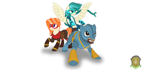 RBC Mascots (Commission) by DolphinFox