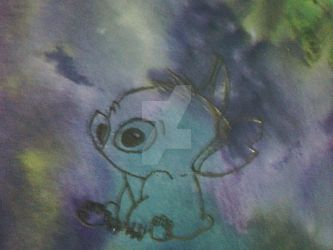 Water color Stitch doodle by Beatlesfan1994