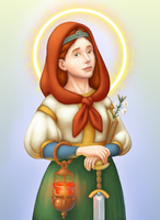 Saint Dymphna by CaligariMarte