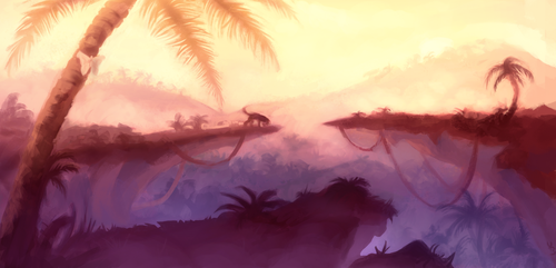 010618 (Speedpainting) The Jungle by YorieOfTheCastle