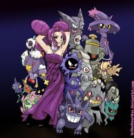 Fantina and Ghost Pokemon