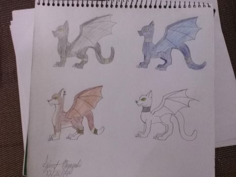 Cat Dragon Adopts {CLOSED} by SpiritMiyazaki