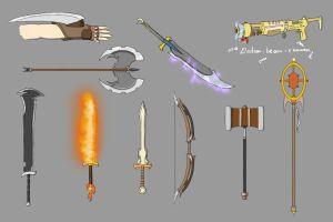 Weapons - Colored by Juh-Juh