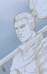 Yasuo sketch by MauroIllustrator