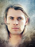 thor painting by perlaque
