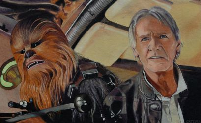 Han and Chewie - The Force Awakens by EclepticGears