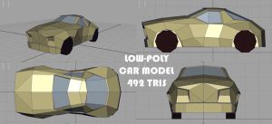 Low Poly Model: Car by RougeSpark