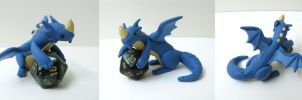 Blue DnD Dice Dragon by MowenDesigns