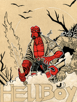Hellboy by LoganPike