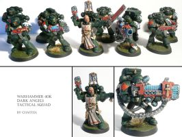 Dark Angels Tactical Squad by chaotea