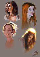 Portrait Study set by M00NBRUSH