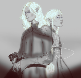 Finrod and Galadriel by KTDSI