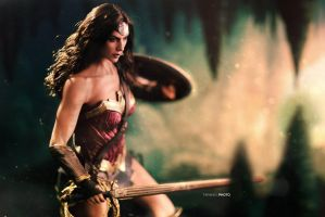 Wonderwoman: battle ready by BornTewSlow