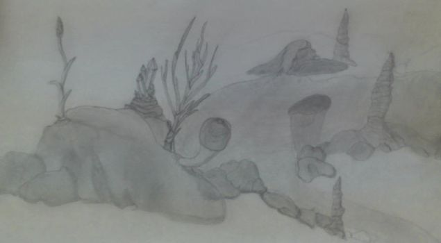 Cave life pencil shaded by Shadow-Dragonlord