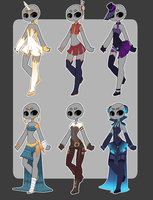 Fantasy outfits 2 CLOSED by Lunathyst