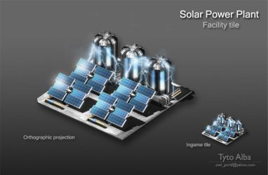 Solar Power Plant by TytoAAlba