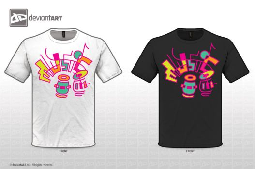 Musically Inspired T-shirt Design Challenge by AnnaBramble