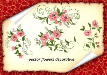 Vector Flowers Decorative by roula33
