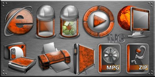 Amber Dock Icons by Quistwm