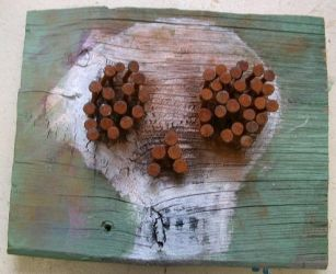 Skull 2 with Rusty Nails by rosswright