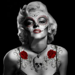 Day Of The Dead Marilyn-Monroe by angel1592