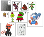 Fakemon Auction: Until September Ends CLOSED by Snivy101