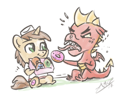 A Pony's Birthday Donuts by AssasinMonkey