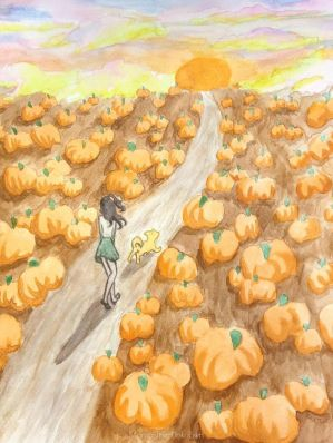 Pumpkin Path by Momo-The-Unknown