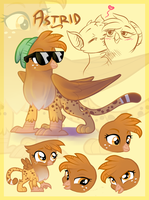 Astrid the Ginger Griffon by Catnip1996
