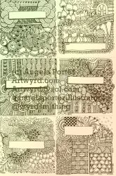 Today's doodles/zentangles by Artwyrd