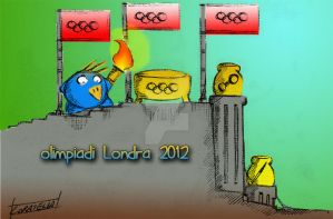 Cippi Olimpiadi 2012 - Cippi torchbearer by VictorHoreau