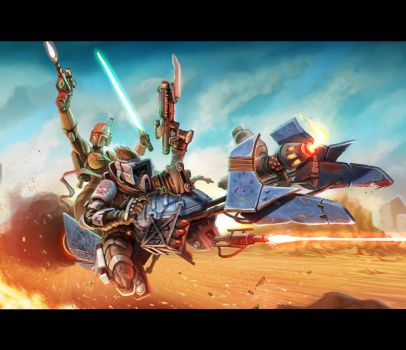 Mad Max: Fury Road / Star Wars Crossover by CollinSearle